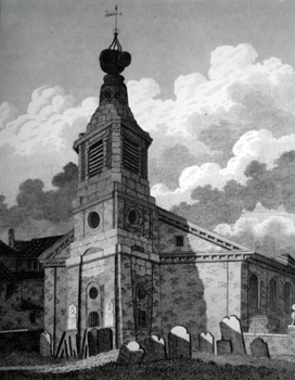 ANTIQUE PRINT: ST. ANN'S WESTMINSTER.