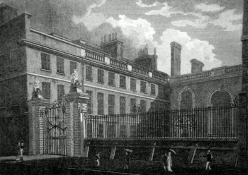 Antique print of Vintners' Hall