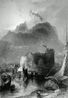 ANTIQUE PRINT: CASTLE OF INVERLOCHY = CHÂTEAU DE INVERLOCHY.