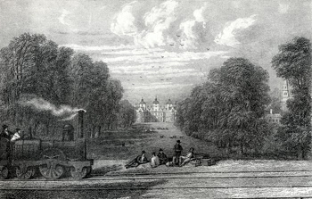 ANTIQUE PRINT: [BIRMINGHAM] ASTON HALL.