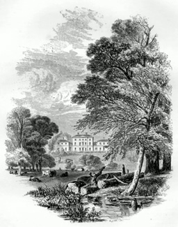 ANTIQUE PRINT: 4. - ETRURIA HALL.