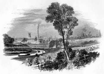 ANTIQUE PRINT: 2. - BURSLEM AND LONGPORT.