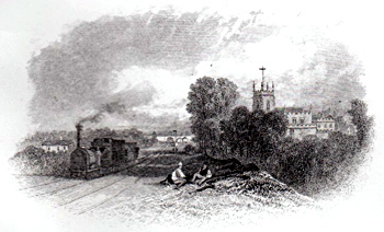 ANTIQUE PRINT: PENKRIDGE.