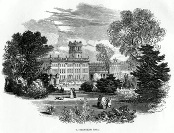 ANTIQUE PRINT: 9. - TRENTHAM HALL.
