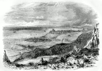 ANTIQUE PRINT: FOLKESTONE.