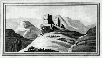 ANTIQUE PRINT: VIEW OF DOLWYDDELAN CASTLE IN THE COUNTY OF CAERNARVON.