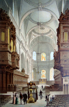 ANTIQUE PRINT: THE CHOIR ST. PAUL'S CATHEDRAL.
