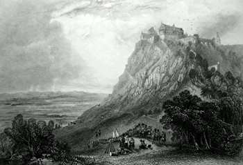 Antique print of Stirling