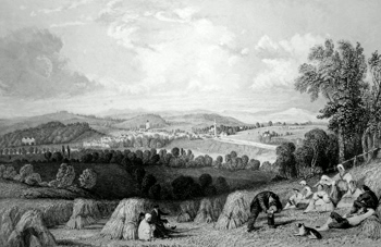 ANTIQUE PRINT: COLDSTREAM, FROM THE ENGLISH SIDE. (BERWICKSHIRE).