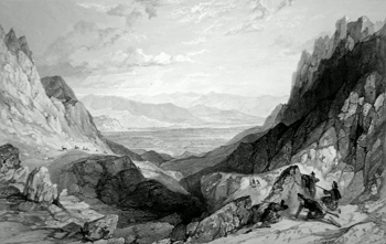 ANTIQUE PRINT: THE PASS OF CAIRN GORM, LOOKING TOWARDS AVIEMORE. (INVERNESS-SHIRE.)