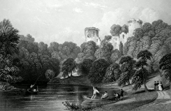 ANTIQUE PRINT: BOTHWELL CASTLE, ON THE CLYDE. (LANARKSHIRE.)