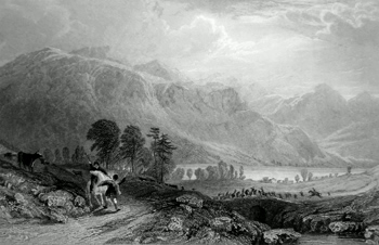 ANTIQUE PRINT: LOCH LONG, FROM GLENCROE. (ARGYLESHIRE, WEST HIGHLANDS.)