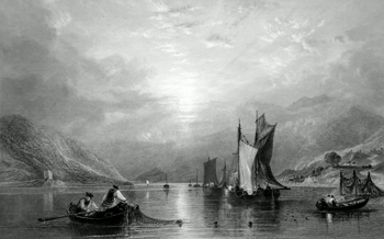 ANTIQUE PRINT: LOCH FINE.