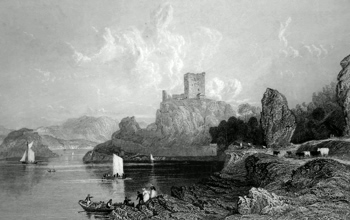 ANTIQUE PRINT: DUNOLLY CASTLE, NEAR OBAN. (ARGYLESHIRE.)