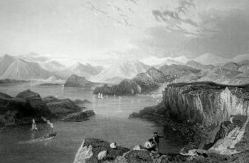 ANTIQUE PRINT: THE SOUND OF KERRERA.