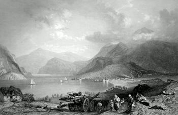 ANTIQUE PRINT: BENAWE, LOCH ETIVE, FROM NEAR TYANUILT. (ARGYLESHIRE.)