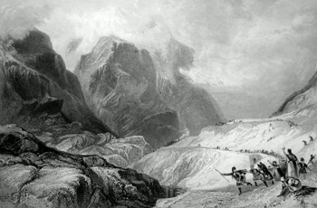 ANTIQUE PRINT: THE EASTERN PASS OF GLENCOE. (ARGYLESHIRE.)
