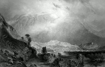 ANTIQUE PRINT: GLENCOE FROM THE WEST. (WEST HIGHLANDS.)
