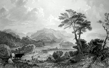 ANTIQUE PRINT: LOCH LINNHE; LOOKING SOUTH. (ARGYLLSHIRE.)