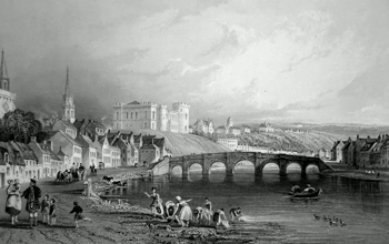 Antique print of Inverness