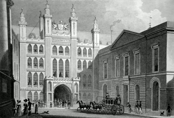 Antique print of the Guildhall after Thomas Hosmer Shepherd