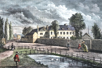 ANTIQUE PRINT: SADLER'S WELLS IN 1756.