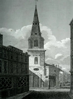 ANTIQUE PRINT: ST. ANTHOLINS WATLING ST.