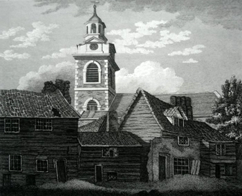 ANTIQUE PRINT: CHRIST CHURCH SURRY.