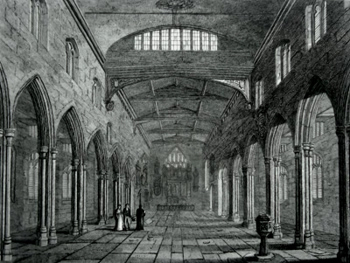 ANTIQUE PRINT: INTERIOR OF ST. DUNSTANS, STEPNEY.
