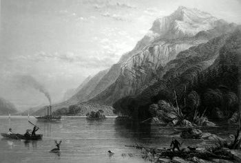 ANTIQUE PRINT: BLACK MOUNTAIN. (LAKE GEORGE.)
