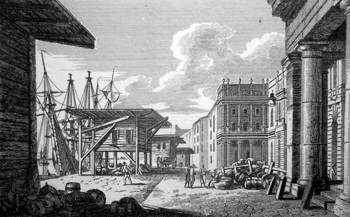 ANTIQUE PRINT: LA DOUANE = CUSTOM HOUSE.