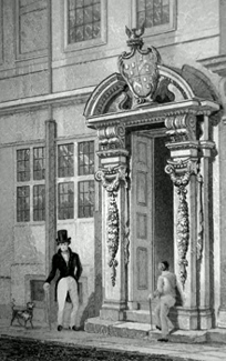 ANTIQUE PRINT: PAINTER STAINER'S HALL, LITTLE TRINITY LANE.
