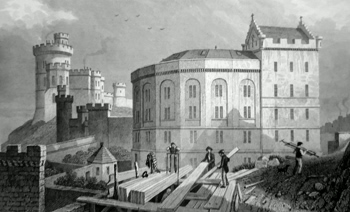 ANTIQUE PRINT: EAST END OF THE BRIDEWELL, AND JAIL GOVERNOR'S HOUSE, EDINBURGH.