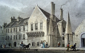 ANTIQUE PRINT: REGENT MURRAY'S HOUSE, IN THE CANONGATE. EDINBURGH.