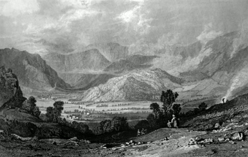 ANTIQUE PRINT: [ROSTHWAITE] ROSSTHWAITE, BORROWDALE, FROM THE ROAD TO WATENLATH.