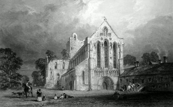 ANTIQUE PRINT: [LANERCOST] LLANERCOST PRIORY, CUMBERLAND.
