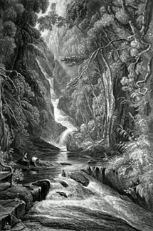 ANTIQUE PRINT: THE BIRKS OF ABERFELDY.