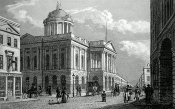 ANTIQUE PRINT: TOWN HALL, LIVERPOOL. TO THE MAYOR & CORPORATION, THIS PLATE IS RESPECTFULLY DEDICATED BY THE PUBLISHERS.