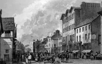 Antique print of Bolton