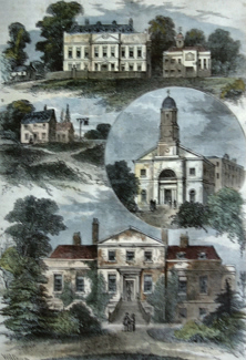 Antique print of Stockwell
