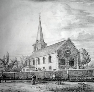 ANTIQUE PRINT: STREATHAM CHURCH. S.E.