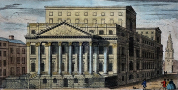 ANTIQUE PRINT: A VIEW OF THE MANSION HOUSE, ERECTED FOR THE RESIDENCE OF THE LORD MAYORS OF LONDON.
