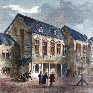 ANTIQUE PRINT: THE MARSHALSEA PRISON, IN THE EIGHTEENTH CENTURY.