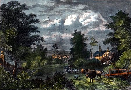 Antique print of Notting Hill