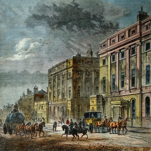 ANTIQUE PRINT: STRATFORD PLACE.