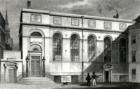 ANTIQUE PRINT: STATIONERS' HALL, STATIONERS' HALL COURT.