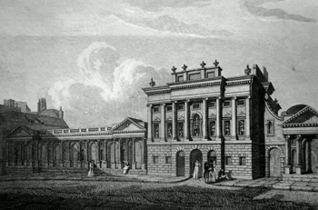 ANTIQUE PRINT: BANK OF ENGLAND, SOUTH FRONT.