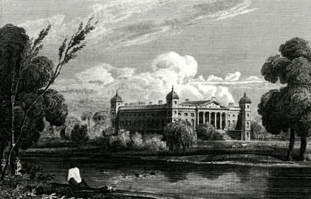 ANTIQUE PRINT: OSTERLEY HOUSE, MIDDLESEX. THE SEAT OF THE EARL OF JERSEY.