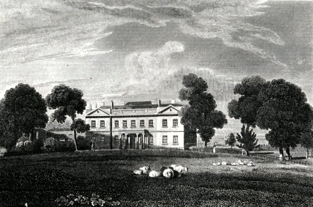 ANTIQUE PRINT: STANMORE HOUSE. THE SEAT OF LADY AYLESFORD, MIDDLESEX.