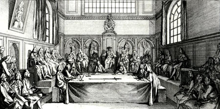 ANTIQUE PRINT: A REPRESENTATION OF THE LORD MAYOR, COURT OF ALDERMEN AND COMMON COUNCIL.